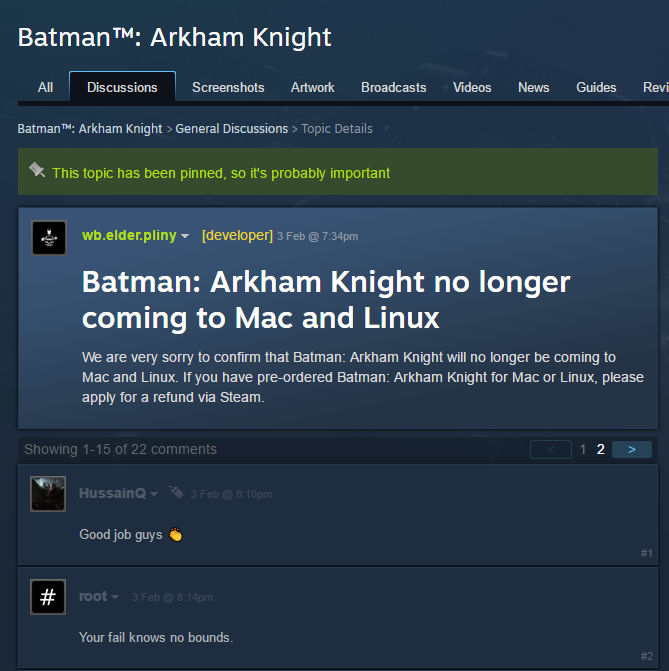 Batman Arkham Knight linux