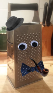 Mr Cheesegrater in a bow tie